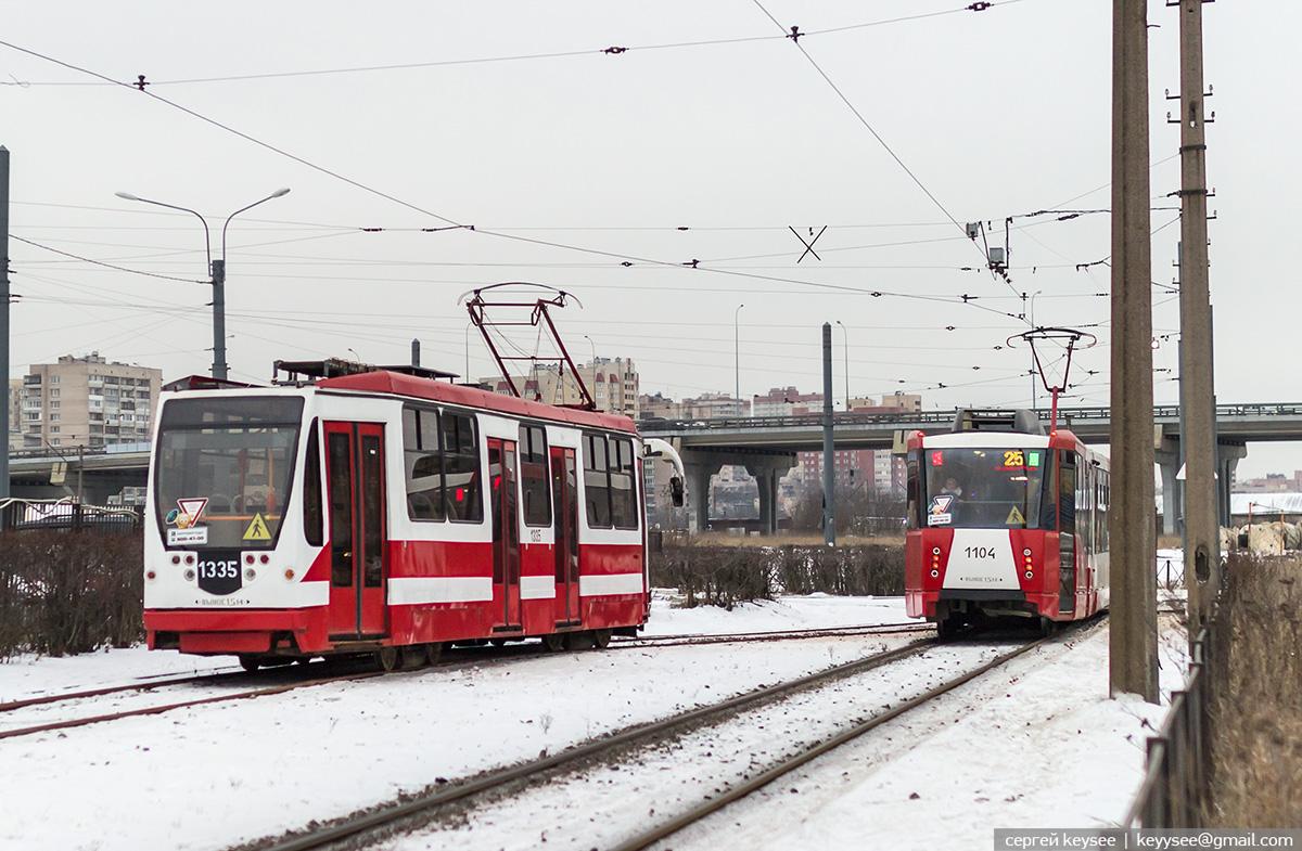 Санкт-Петербург. 71-134А (ЛМ-99АВН) №1335, 71-152 (ЛВС-2005) №1104