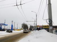 Калуга. Закрытая в январе 2017 года линия, ведущая к диспетчерской маршрута № 18
