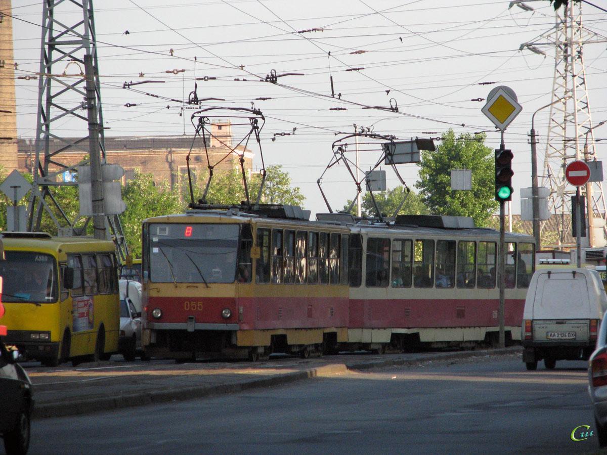Киев. Tatra T6B5 (Tatra T3M) №055, Tatra T6B5 (Tatra T3M) №056