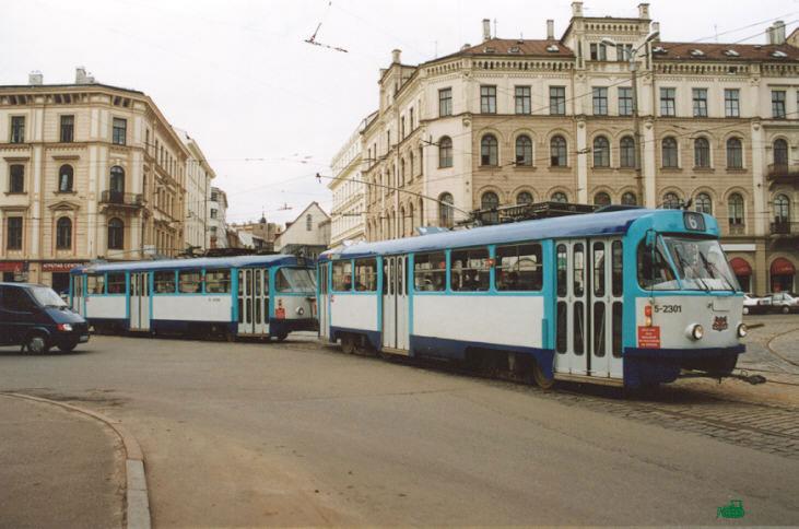 Рига. Tatra T3A №5-2301, Tatra T3A №5-2302