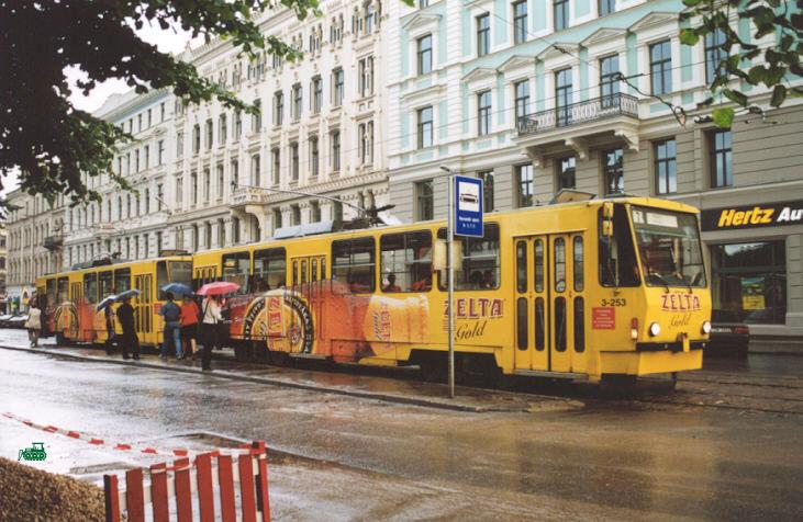 Рига. Tatra T6B5 (Tatra T3M) №3-253, Tatra T6B5 (Tatra T3M) №3-254