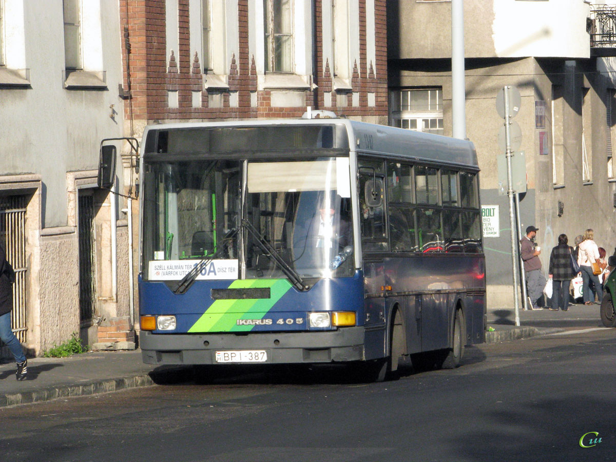 Будапешт. Ikarus 405 BPI-387