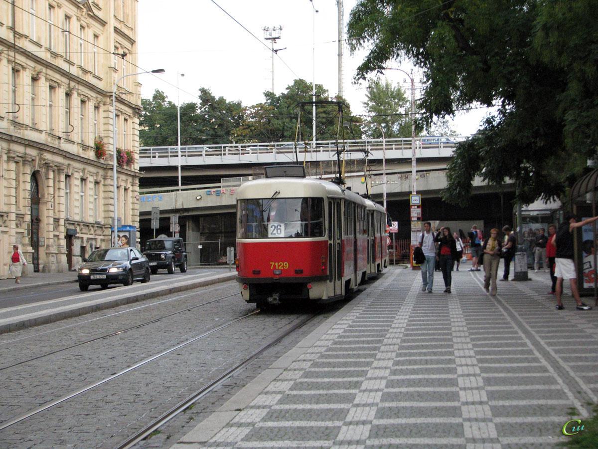 Прага. Tatra T3SUCS №7129