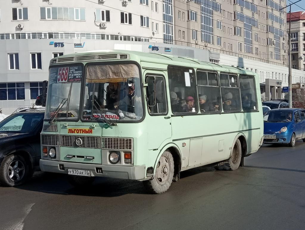 Омск. ПАЗ-32054 у970ак