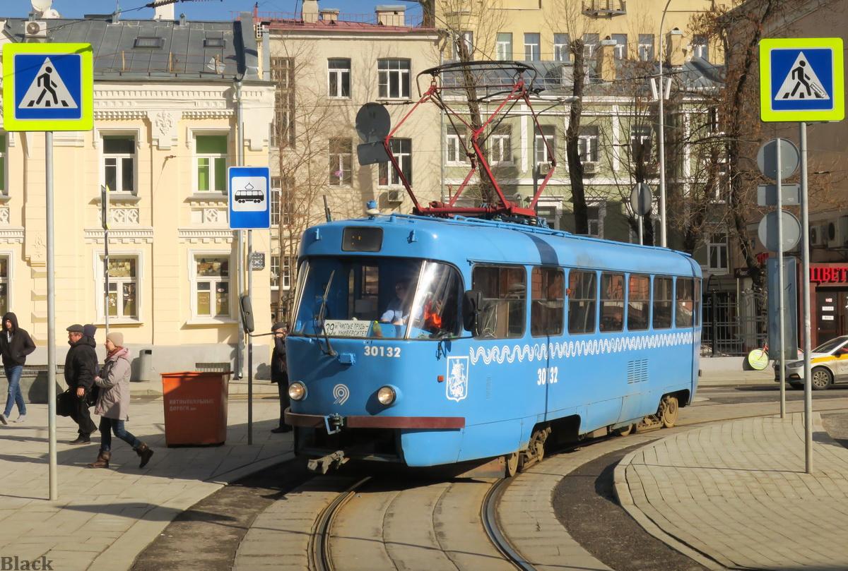 Москва. Tatra T3 (МТТЧ) №30132