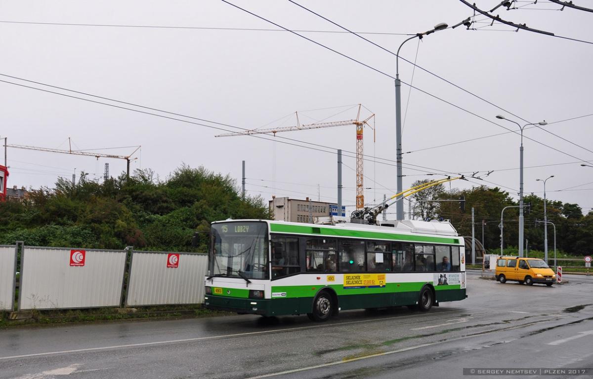 Пльзень. Škoda 21Tr №493