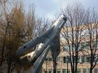 Калуга. Самолёт-памятник МиГ-17 - памятник ветеранам 324-ой авиационной дивизии и её командиру Ивану Никитовичу Кожедубу