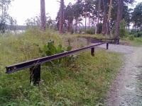 Чебаркуль. Узкоколейные рельсы, используемые в качестве ограды
