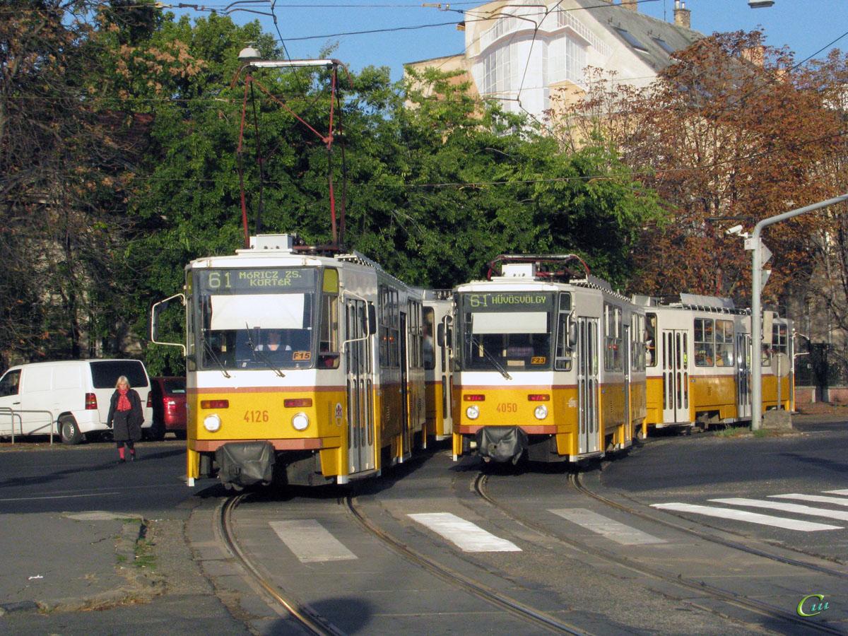 Будапешт. Tatra T5C5 №4050, Tatra T5C5 №4126, Tatra T5C5 №4095