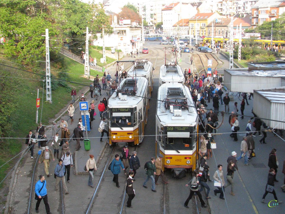 Будапешт. Tatra T5C5 №4066, Tatra T5C5 №4062, Tatra T5C5 №4013
