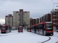 Санкт-Петербург. 71-623-03 (КТМ-23) №3701, ЛМ-68М3 №3502, ЛМ-68М3 №3504