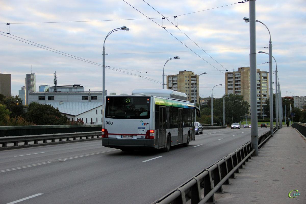 Вильнюс. MAN A21 Lion's City NL273 CNG GND 508