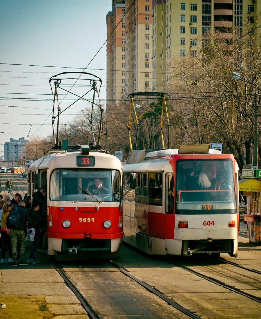 Киев. Tatra T3UA-3 №604, Tatra T3SUCS №5651