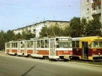 Липецк. Tatra T6B5 (Tatra T3M) №2128, Tatra T6B5 (Tatra T3M) №2143, РВЗ-6М2 №1072