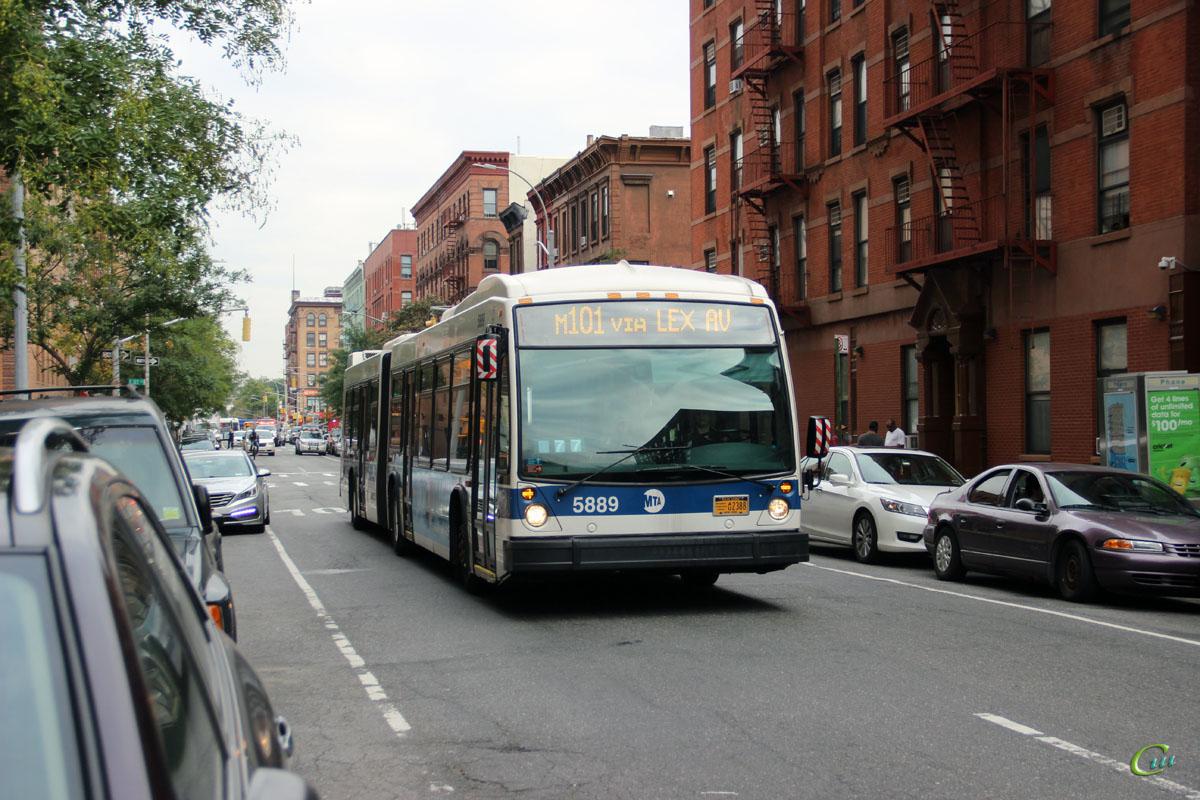 Нью-Йорк. Novabus LFS Artic AU2388