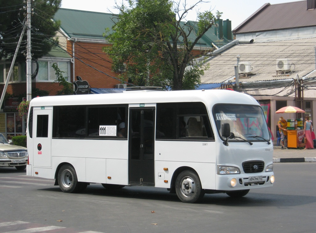 Анапа. Hyundai County LWB а847ма
