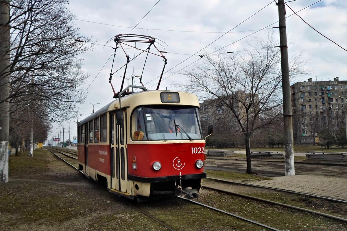 Мариуполь. Tatra T3SUCS №1022
