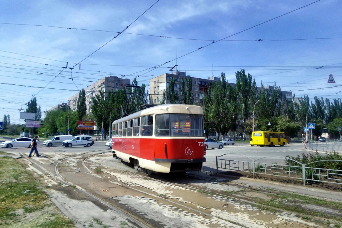 Мариуполь. Tatra T3A №735