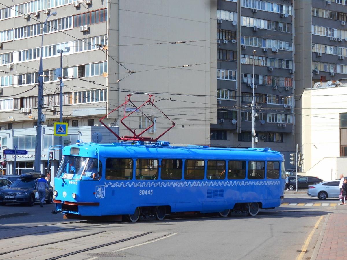 Москва. Tatra T3 (МТТЧ) №30445