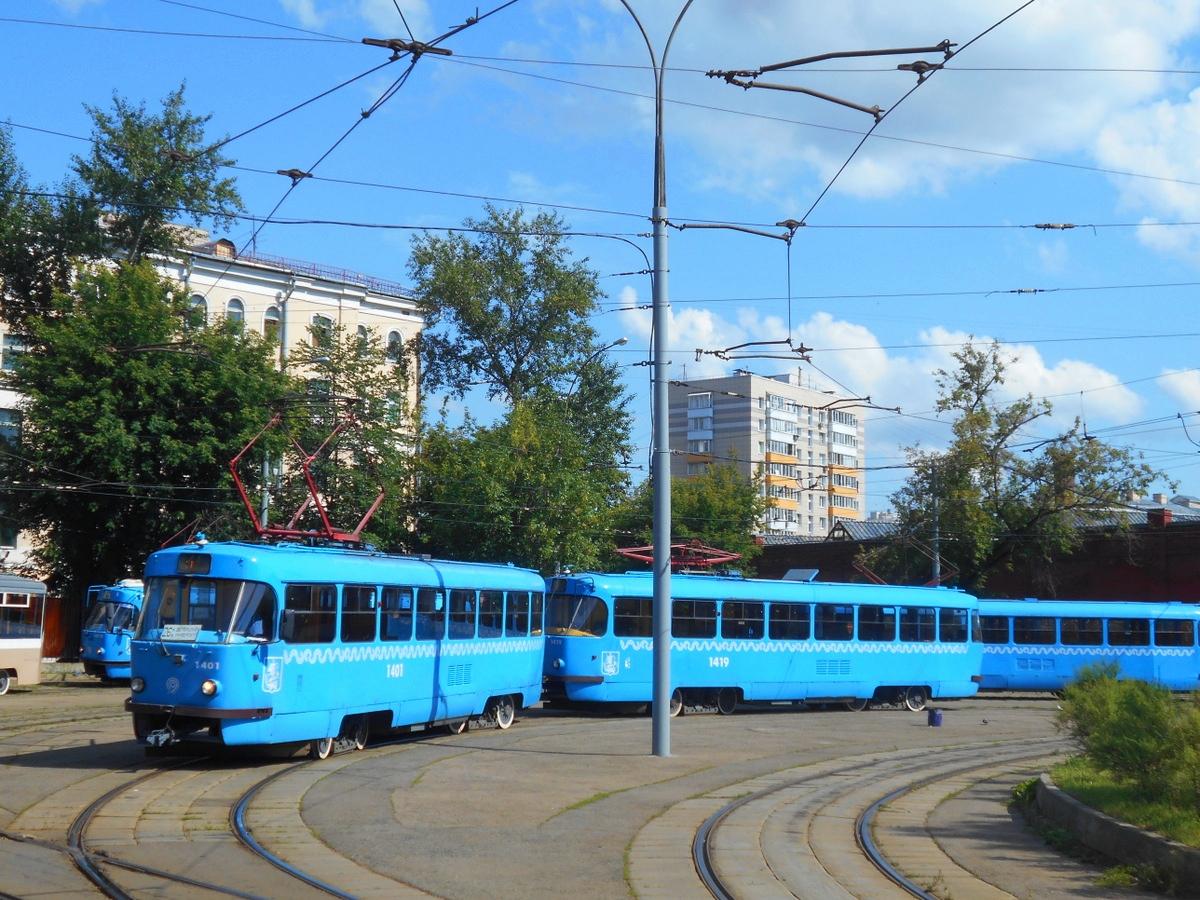 Москва. Tatra T3 (МТТЧ) №1401, Tatra T3 (МТТЧ) №1419