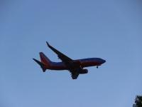 Сан-Диего. Самолет Boeing 737 (N932WN) авиакомпании Southwest Airlines заходит на посадку в международный аэропорт Сан-Диего (SAN)