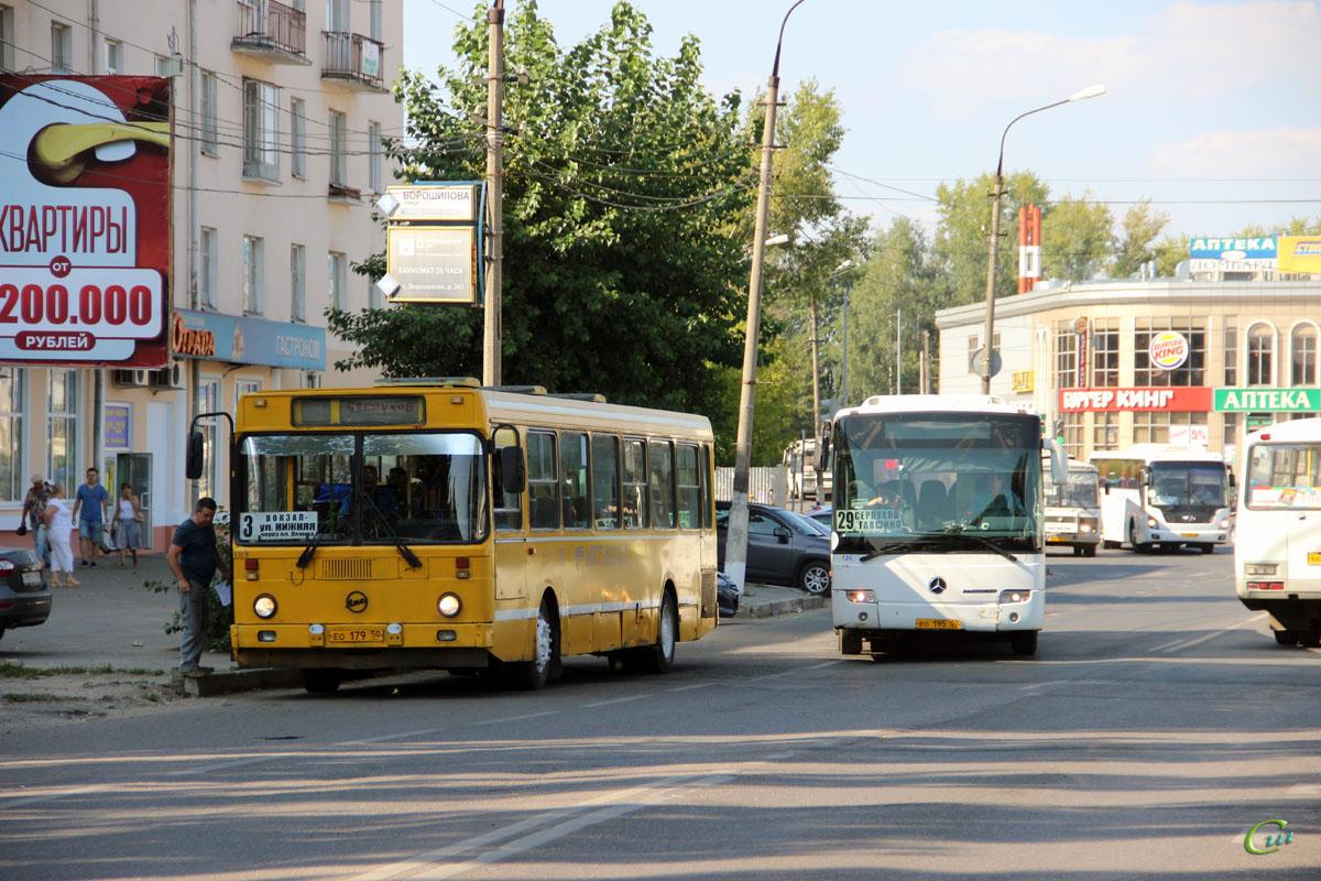 Серпухов. ЛиАЗ-5256.25-11 ео179, Mercedes-Benz O345 Conecto H ео195