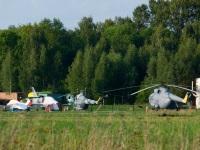 Воротынск. Вертолёты Ми-8 и Ми-2