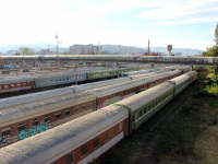 Тбилиси. Пассажирские вагоны на станции Тбилиси-Пассажирская