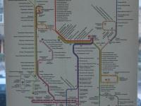 Москва. Схема маршрутов 6 троллейбусного парка города Москвы