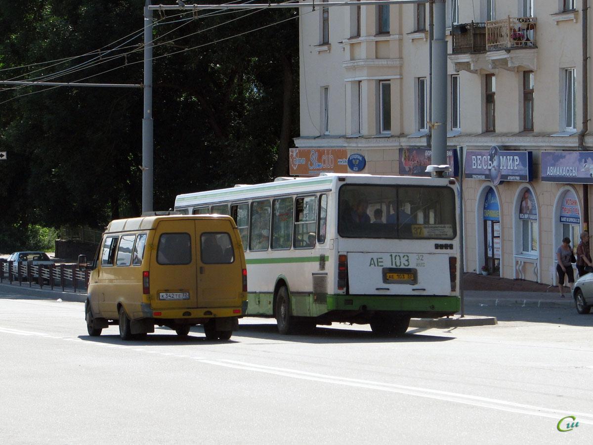 Брянск. ЛиАЗ-5256.45 ае103, ГАЗель (все модификации) к342те
