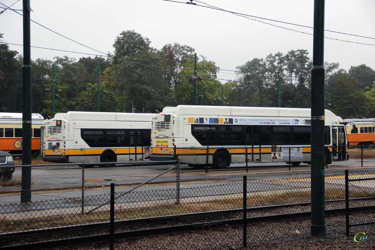 Бостон. New Flyer XN40 MBT 1610, New Flyer XN40 MBT 1630