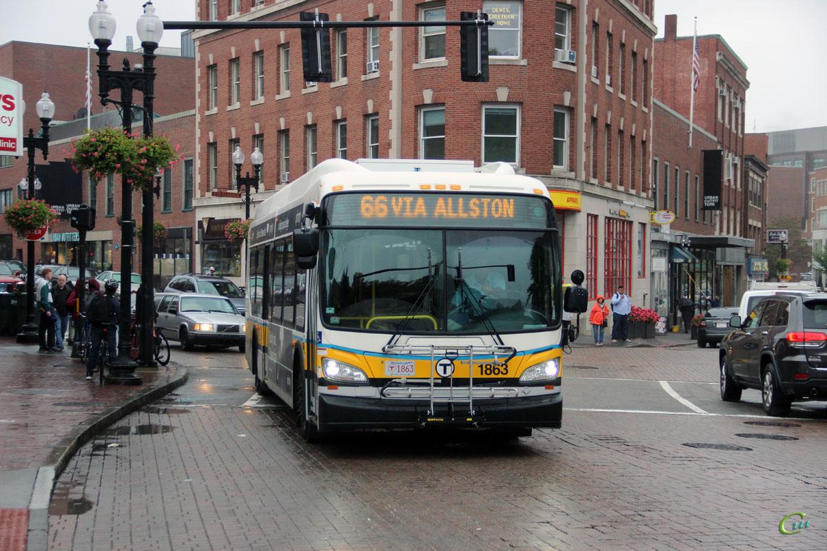 Бостон. New Flyer XDE40 MBT 1863