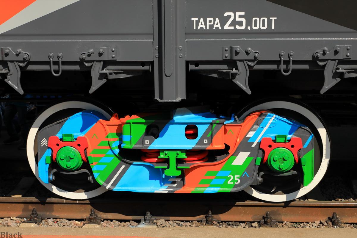 Москва. Штампосварная тележка модели 18-9999 для грузовых вагонов