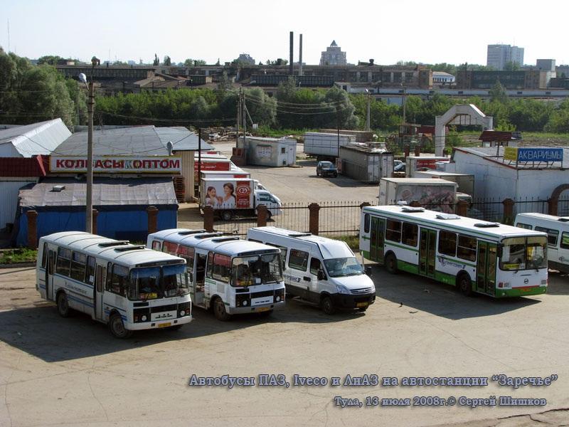 Тула. ПАЗ-4234 ат564, ПАЗ-3205 аа051, IVECO Daily ар068, ЛиАЗ-5256 ар347