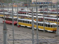 Москва. Tatra T3 (МТТЧ) №3387, Tatra T3 (МТТЧ) №3405, 71-405 №3201