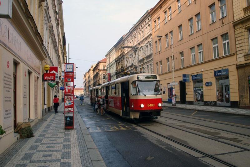 Прага. Tatra T3 №8480, Tatra T3 №8481
