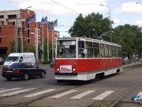 Даугавпилс. Трамвай КТМ-5А №111 на 3-м маршруте на пересечении улиц 18 Ноября (18
