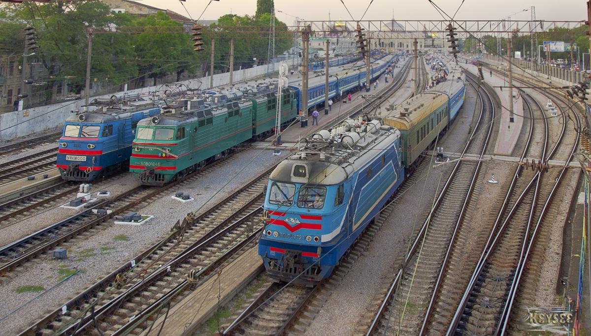 Одесса. ВЛ40У-1202.1, ВЛ80с-646, ВЛ60пк-1000