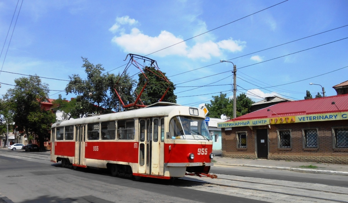 Донецк. Tatra T3SU №955