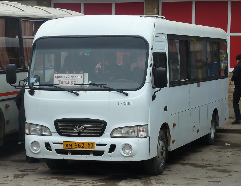 Таганрог. Hyundai County LWB ам662