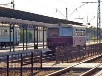 Чоп. Мотриса 910674-2 Словацких железных дорог на железнодорожном вокзале станции Чоп