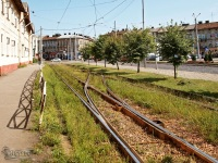 Львов. Съезд между трамвайными путями на улице Черновицкой