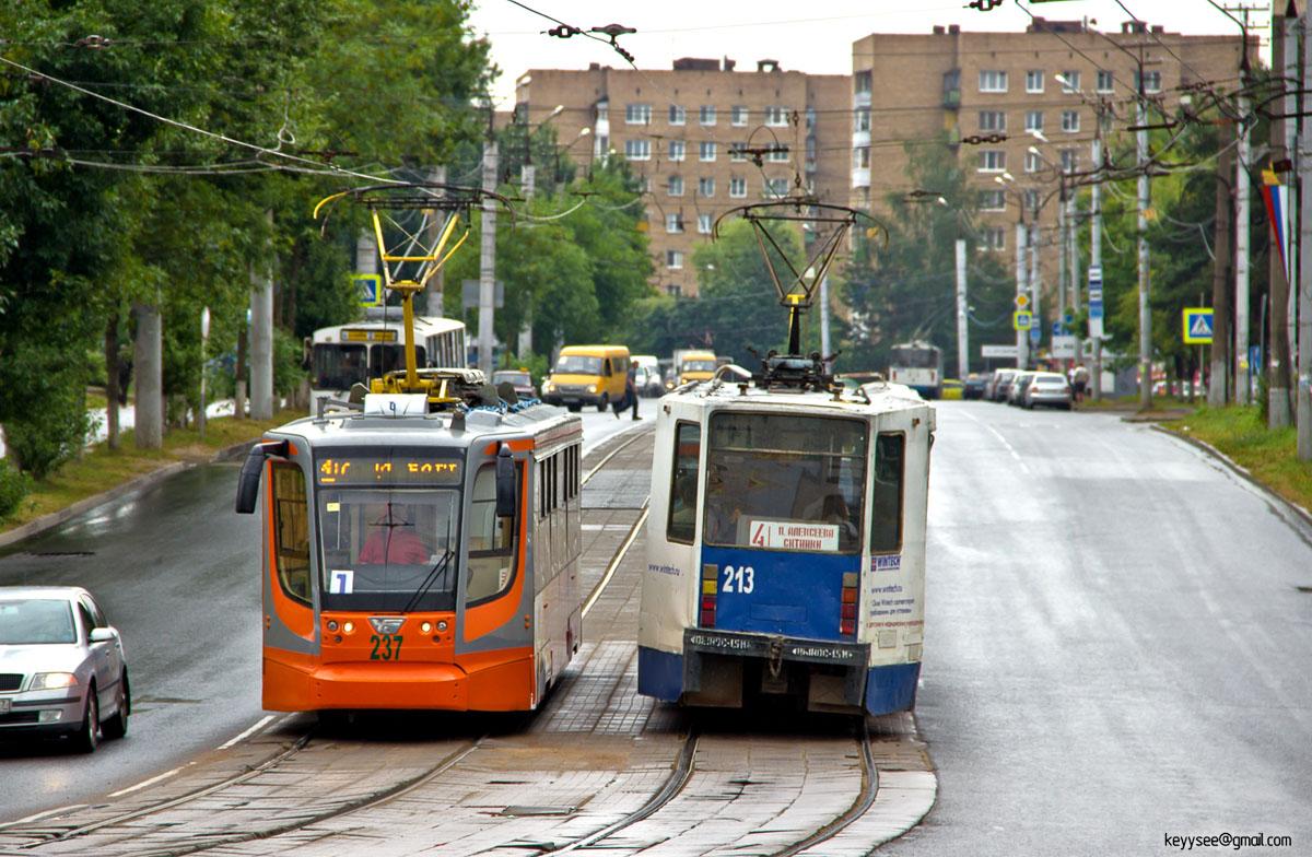 Смоленск. 71-608К (КТМ-8) №213, 71-623-01 (КТМ-23) №237