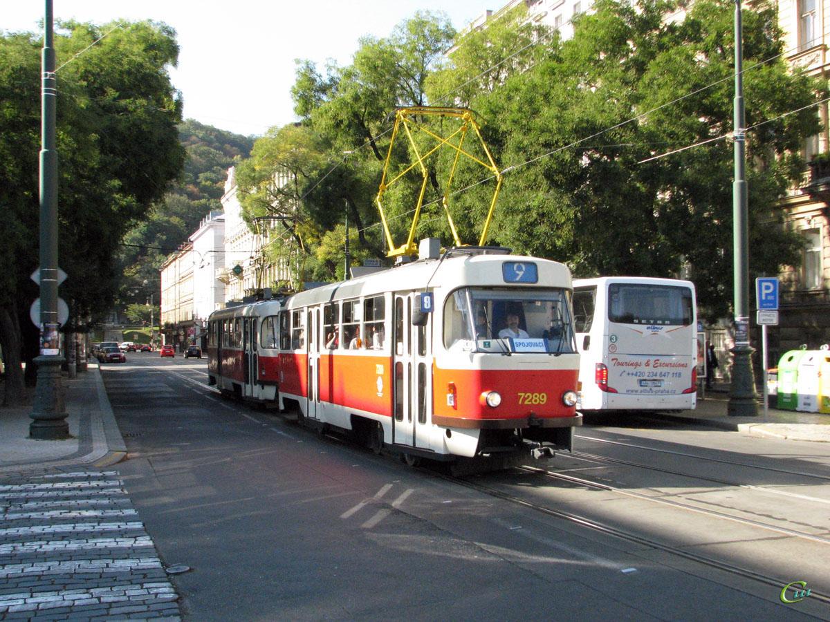 Прага. Tatra T3SUCS №7289