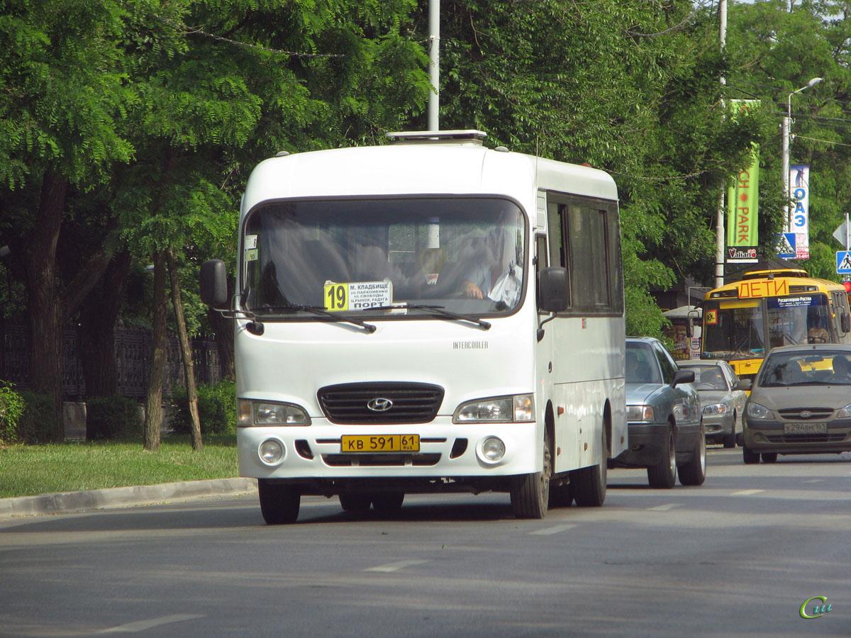 Таганрог. Hyundai County LWB кв591