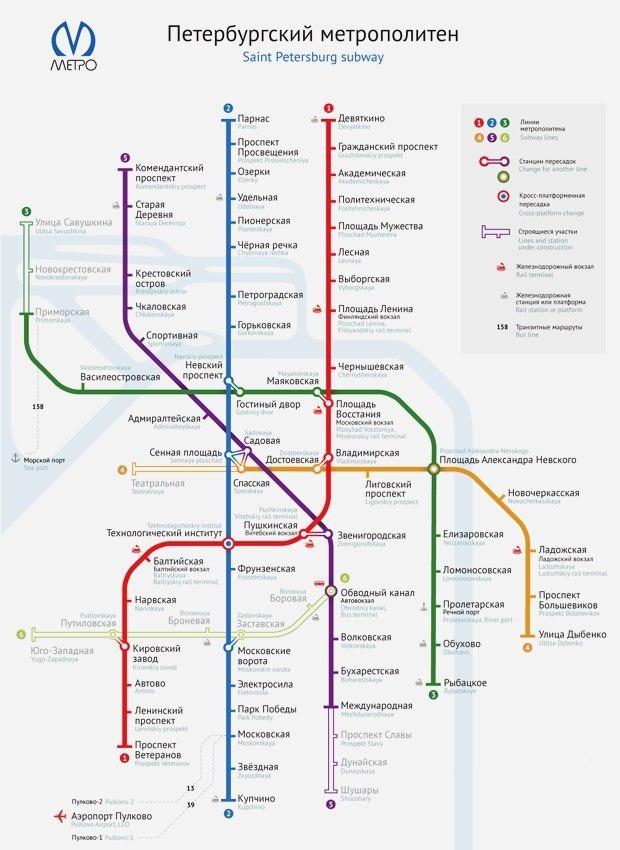 Схема метрополитена спб фото