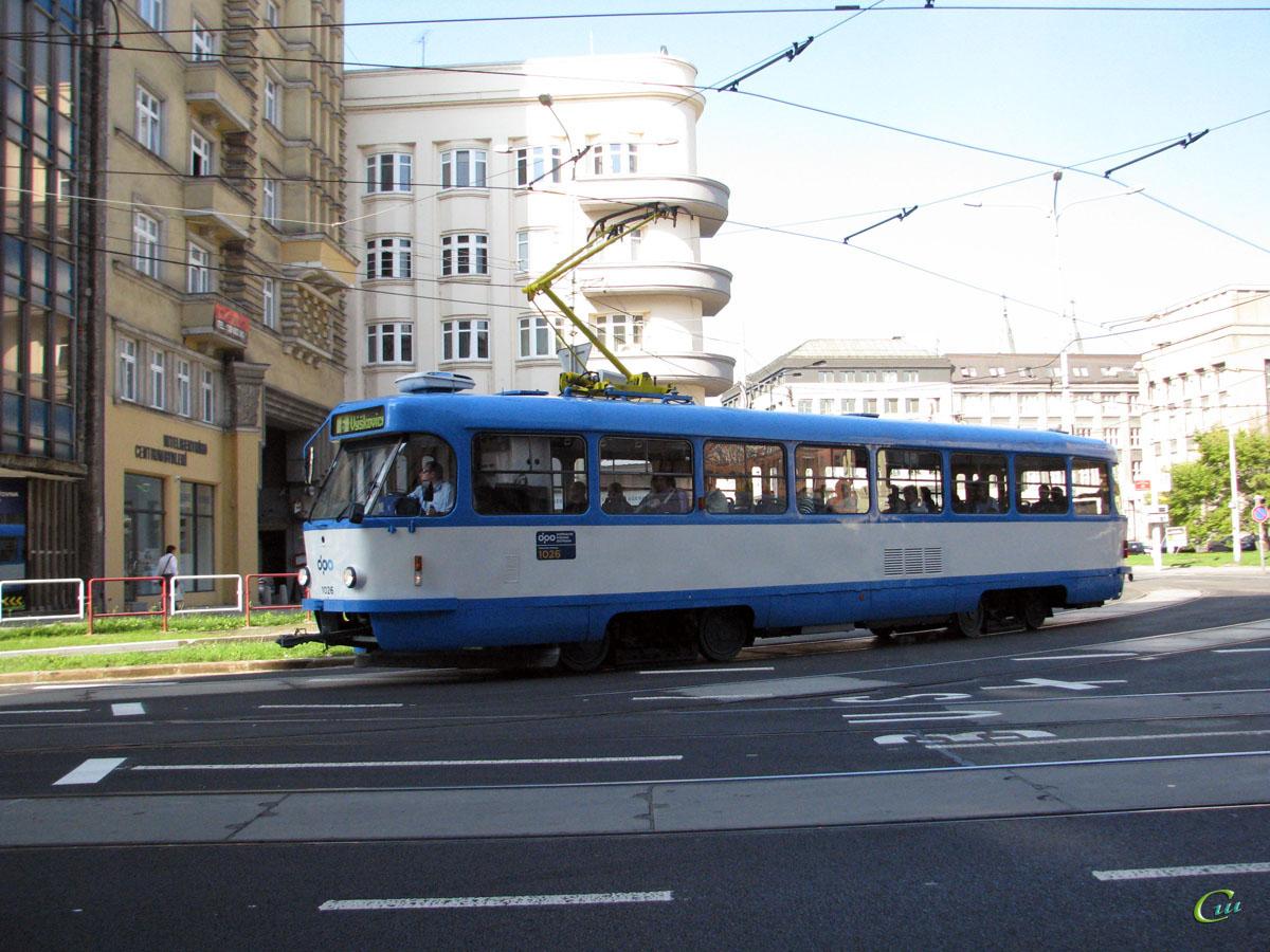 Острава. Tatra T3 №1026