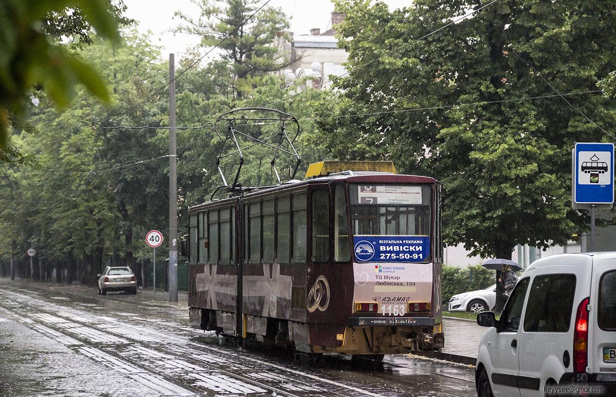 Львов. Tatra KT4D №1163