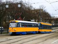 Лейпциг. Tatra T4D-M1 №2184, Bombardier NB4 №930