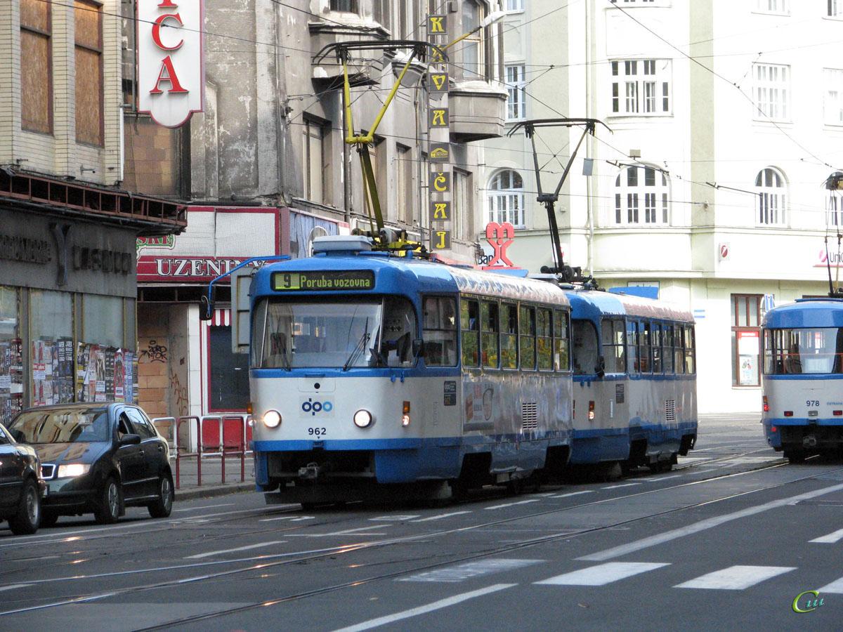 Острава. Tatra T3 №962